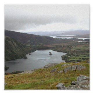 Glanmore Lake from Healy Pass Ireland. Poster