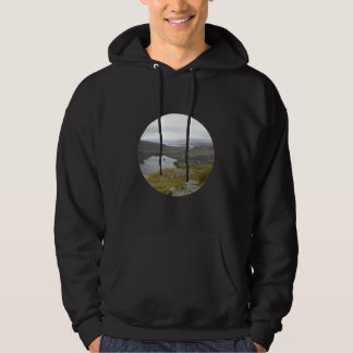 Glanmore Lake from Healy Pass Ireland. Round. Hoodie