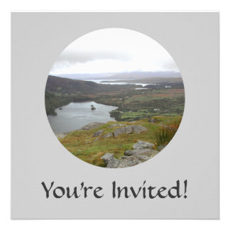 Glanmore Lake from Healy Pass Ireland. Round. Announcements