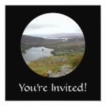 """Glanmore Lake from Healy Pass Ireland. Round. 5.25"""" Square Invitation Card"""