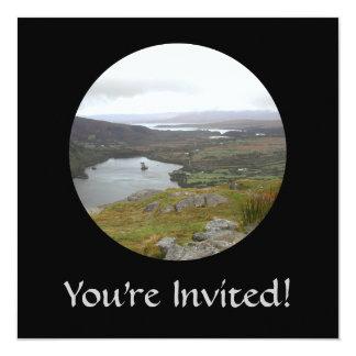 Glanmore Lake from Healy Pass Ireland. Round. Invitation