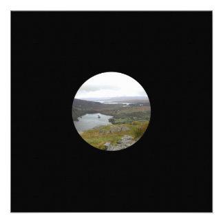 Glanmore Lake from Healy Pass Ireland. Round. Invitations