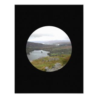 Glanmore Lake from Healy Pass Ireland. Round. Custom Invite