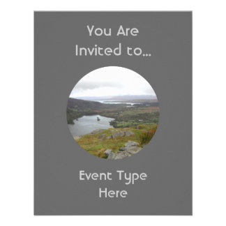 Glanmore Lake from Healy Pass Ireland. Round. Personalized Invitations