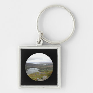 Glanmore Lake from Healy Pass Ireland Round Key Chains