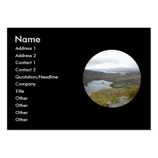 Glanmore Lake from Healy Pass Ireland. Round. Large Business Cards (Pack Of 100)