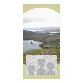 Glanmore Lake from Healy Pass Ireland. Round. Photo Card Template