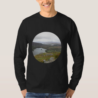 Glanmore Lake from Healy Pass Ireland. Round. T-Shirt