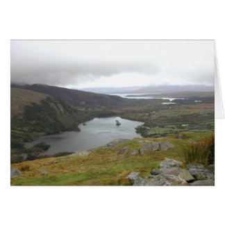 Glanmore Lake from Healy Pass Ireland. Stationery Note Card