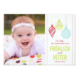 Glänzenden Verzierungen Foto Weihnachtskarte Card