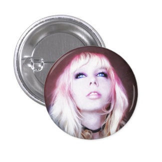 Glare cool beautiful classic oil portrait painting button