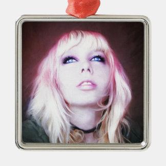 Glare cool beautiful classic oil portrait painting christmas tree ornament