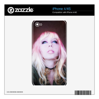 Glare cool beautiful classic oil portrait painting decal for iPhone 4