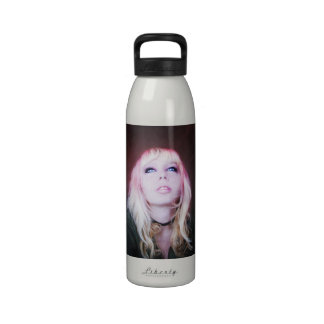 Glare cool beautiful classic oil portrait painting reusable water bottle