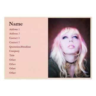 Glare cool beautiful woman oil portrait painting business cards