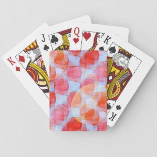Glare from design texture background card deck