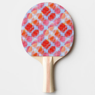 Glare from design texture background Ping-Pong paddle