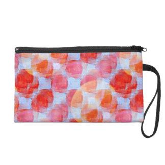 Glare from design texture background wristlet purse