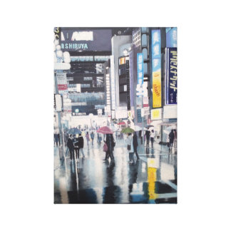 """Glare"" Part of the Images Of Tokyo Collection Stretched Canvas Prints"