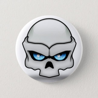 Glaring skull button