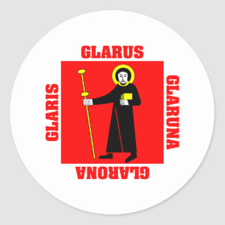 Glarus Switzerland Canton Flag Classic Round Sticker