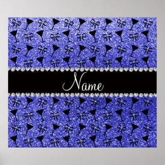 Glas azules de neón conocidos personalizados del póster