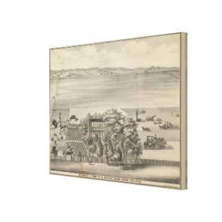 Glascock residence, Black's Station Canvas Print