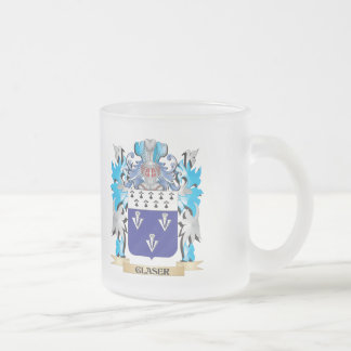Glaser Coat of Arms - Family Crest 10 Oz Frosted Glass Coffee Mug