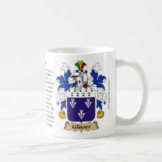 Glaser, the Origin, the Meaning and the Crest Classic White Coffee Mug