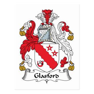 Glasford Family Crest Postcard