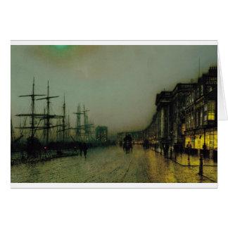 Glasgow cauta de Juan Atkinson Grimshaw Tarjeta De Felicitación