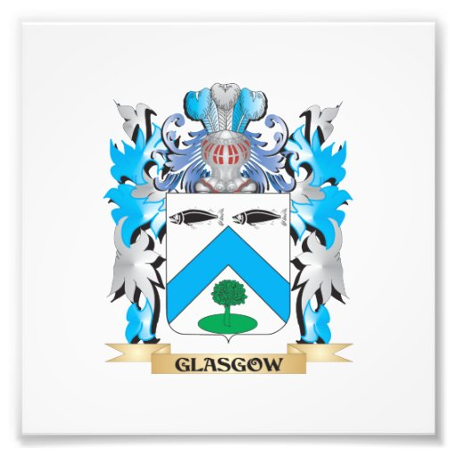 Glasgow Coat of Arms - Family Crest Art Photo