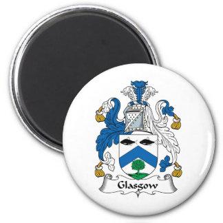 Glasgow Family Crest 2 Inch Round Magnet