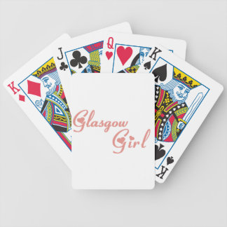 Glasgow Girl Bicycle Playing Cards