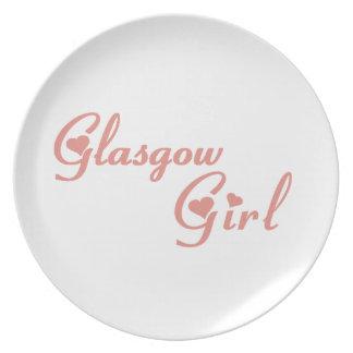 Glasgow Girl Melamine Plate