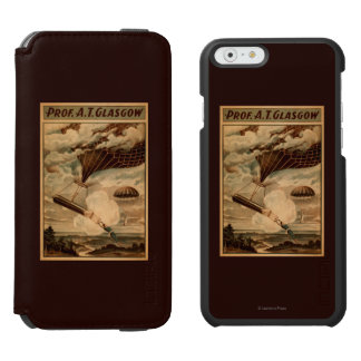 Glasgow Hot Air Balloon Circus Theatre Poster iPhone 6/6s Wallet Case