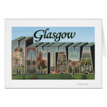 Glasgow, Montana - Large Letter Scenes Greeting Card