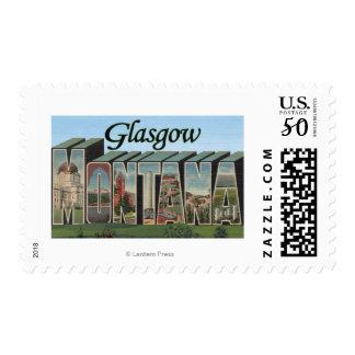 Glasgow, Montana - Large Letter Scenes Postage