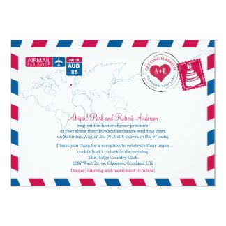 Glasgow, Scotland Airmail | Wedding Card