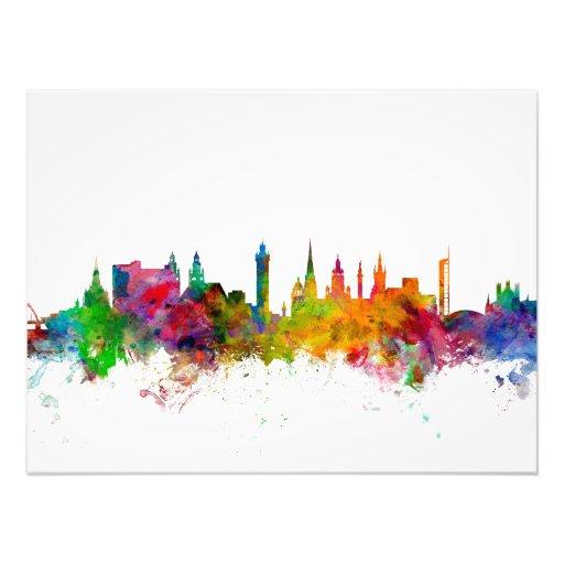 Glasgow Scotland Skyline Art Photo