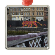 glasgow tiger metal ornament