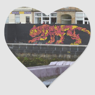 glasgow tiger heart stickers