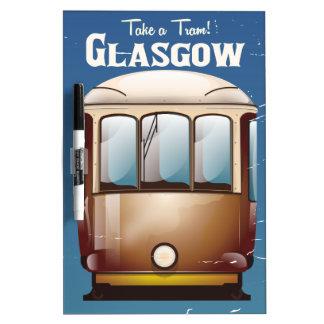 Glasgow Vintage Tram travel poster Dry Erase Board