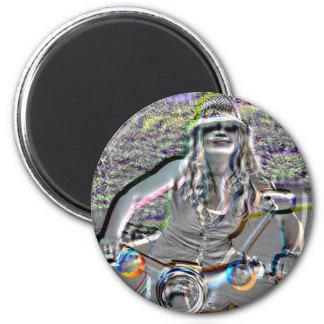 Glasha on Bike4.jpg Magnet