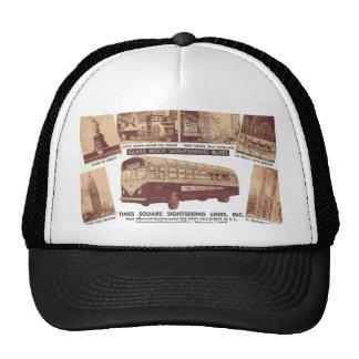 Glasroof Sightseeing Buses Time Squre , Vintage Mesh Hat
