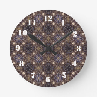 Glass abstract pattern round clock