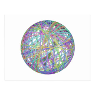 Glass abstract sphere postcard