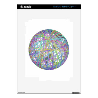Glass abstract sphere decal for iPad 3