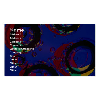 Glass air bubbles Double-Sided standard business cards (Pack of 100)