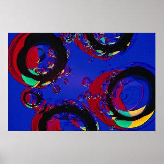 Glass air bubbles print